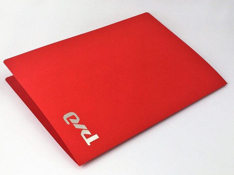 Папка на бумаге с тактильным эффектом Touch cover