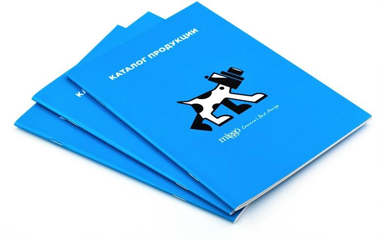 Каталог продукции формата А5, отпечатан на мелованной бумаге, печать цифровая.