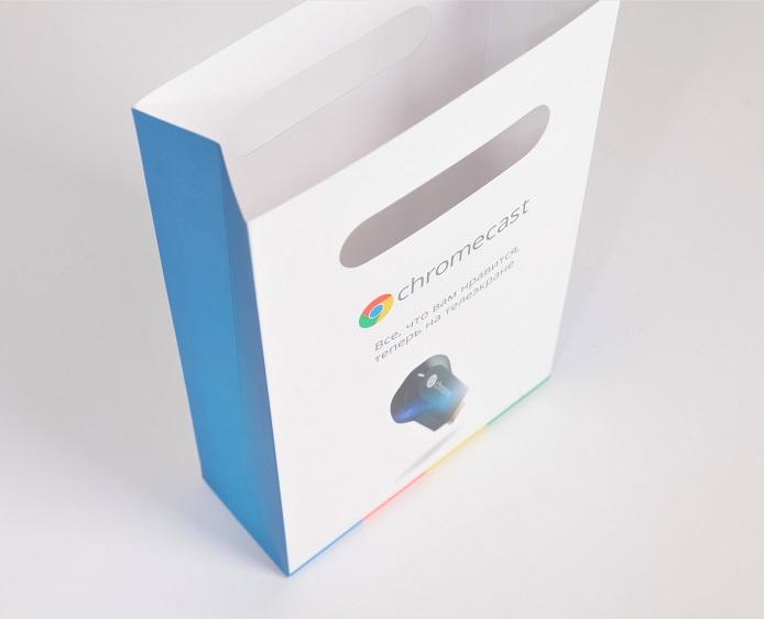 Пакет бумажный, вырубной для коробки с продукцией